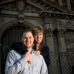 Engagement shoot at Michigan Central Train Station