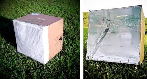 Cardboard softbox