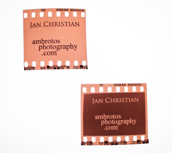 35mm film business cards