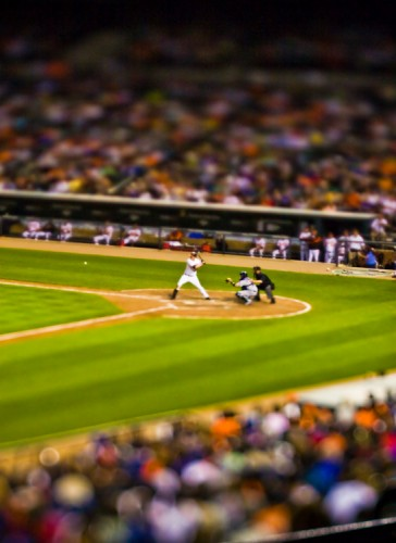 The Orioles at bag tilt shift