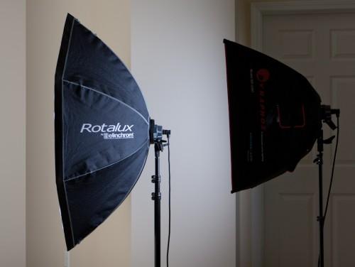 Rotalux and Amvona softbox