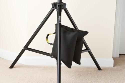 Sandbag in use