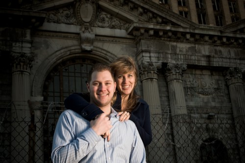 Engagement shoot: Michigan Central Train Station Detroit