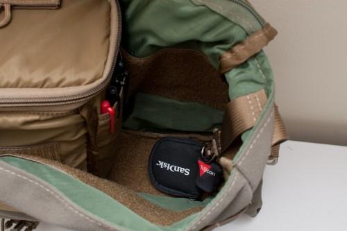 Padded camera bag caddy insert side pocket