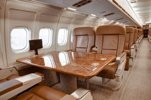 VIP jet MD-81 interior